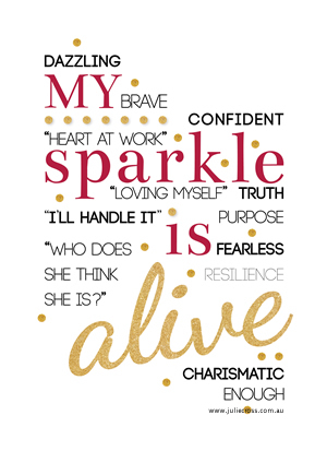 My Sparkle Is Alive Poster