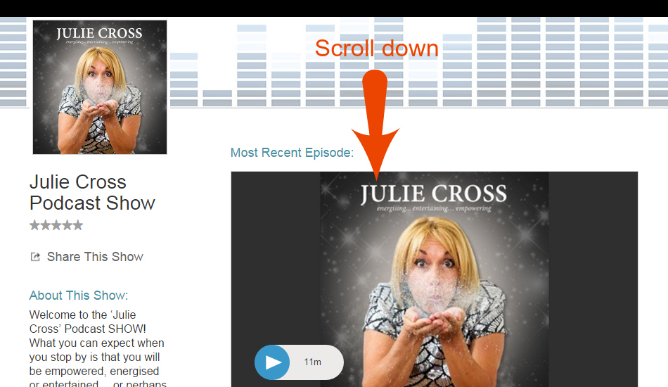 Julie Cross Podcast