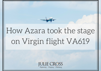 How Azara took the stage on Virgin flight VA619